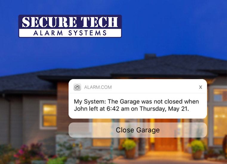 Close the garage right from your app. You can let in a visitor or a contractor without having to be there.
