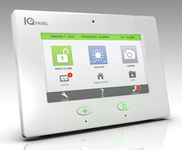 Qolsys IQ panel from Secure Tech Alarms